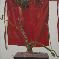 Cactus with Red Apron II