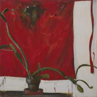 Cactus with Red Apron I