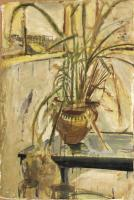 Planter with Lemongrass
