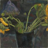 Sunflowers in Bucket